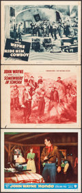 "Movie Posters:Western, Hondo & Others Lot (Warner Brothers, 1953). Lobby Cards (3)(11"" X 14""). Western.. ... (Total: 3 Items)"