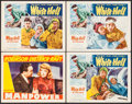"Movie Posters:Drama, Manpower & Other Lot (Warner Brothers, 1941). Lobby Cards (4)(11"" X 14""). Drama.. ... (Total: 4 Items)"