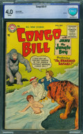 Golden Age (1938-1955):Miscellaneous, Congo Bill #7 - CBCS CERTIFIED (DC, 1955) CGC VG 4.0 White pages.