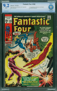 Fantastic Four #105 - CBCS CERTIFIED (Marvel, 1970) CGC NM- 9.2 White pages