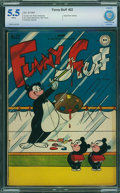 Golden Age (1938-1955):Funny Animal, Funny Stuff #22 - CBCS CERTIFIED (DC, 1947) CGC FN- 5.5 White pages.