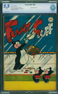 Funny Stuff #22 - CBCS CERTIFIED (DC, 1947) CGC FN- 5.5 White pages