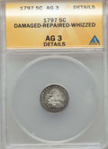 Early Half Dimes: , 1797 H10C -- Repaired, Whizzed, Damaged -- ANACS. AG3 Details. NGCCensus: (0/120). PCGS Population: (1/205). Mintage 44,5...