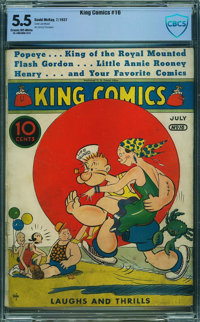 King Comics #16 - CBCS CERTIFIED (David McKay Publications, 1937) CGC FN- 5.5 Cream to off-white pages