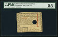 Colonial Notes:Massachusetts, Massachusetts May 5, 1780 $2 PMG About Uncirculated 55 Net.. ...