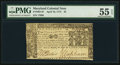 Colonial Notes:Maryland, Maryland April 10, 1774 $2 PMG About Uncirculated 55 EPQ.. ...