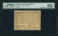 Rhode Island July 2, 1780 $5 PMG Choice Uncirculated 63 EPQ
