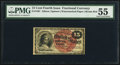 Fractional Currency:Fourth Issue, Fr. 1267 15¢ Fourth Issue PMG About Uncirculated 55.