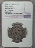 1786 Copper New Jersey Copper, Narrow Shield, Beam Curved -- Scratches -- NGC Details. Fine. NGC Census: (9/85). PCGS Po...