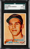 Baseball Cards:Singles (1950-1959), 1957 Topps Brooks Robinson #328 SGC 92 NM/MT+ 8.5....