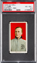 Baseball Cards:Singles (Pre-1930), 1909-11 T206 Old Mill Ty Cobb (Red Portrait) PSA VG-EX+ 4.5....