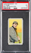 Baseball Cards:Singles (Pre-1930), 1909-11 T206 Piedmont Ty Cobb (Bat On Shoulder) PSA EX 5....