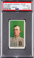 Baseball Cards:Singles (Pre-1930), 1909-11 T206 Sweet Caporal Ty Cobb (Green Portrait) PSA VG-EX+ 4.5....