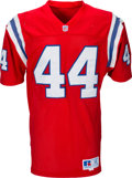 Football Collectibles:Uniforms, 1992 John Stephens Game Worn New England Patriots Jersey with Ten Repairs & Team Letter. . ...