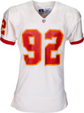 Football Collectibles:Uniforms, 1991 Dexter Manley Game Worn, Signed Tampa Bay Buccaneers Jersey - Photomatched to 11/10 Game vs. Lions!. ...