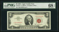 Small Size:Legal Tender Notes, Fr. 1513* $2 1963 Legal Tender Star Note. PMG Superb Gem Unc 68 EPQ.. ...