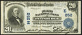 National Bank Notes:Pennsylvania, Pittsburgh, PA - $20 1902 Plain Back Fr. 658 The First NB Ch. # (E)252. ...