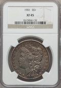 Morgan Dollars: , 1901 $1 XF45 NGC. NGC Census: (397/4218). PCGS Population: (551/4658). CDN: $85 Whsle. Bid for problem-free NGC/PCGS XF45. ...