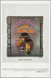 """McCabe and Mrs. Miller (Warner Brothers, 1971). One Sheet (27"""" X 41""""), & Uncut Pressbook (18 Pages, 11&quo..."""