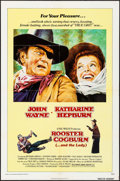 "Movie Posters:Western, Rooster Cogburn (Universal, 1975). One Sheet (27"" X 41""), Pressbook(17 Pages, 8.5"" X 11), Identical Ad Slicks (2) (8.5"" X 1... (Total:4 Items)"