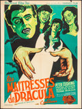 """Movie Posters:Horror, Brides of Dracula (Universal International, 1960). French Moyenne(23.5"""" X 31.5""""). Horror.. ..."""