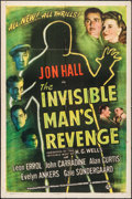 "Movie Posters:Horror, The Invisible Man's Revenge (Universal, 1944). One Sheet (27"" X 41""). Horror.. ..."