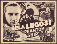 """Phantom Ship (Guaranteed Pictures, 1935). Trimmed Title Lobby Card (10.75"""" X 14""""). Thriller"""