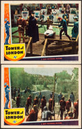 "Movie Posters:Horror, Tower of London (Universal, 1939). Lobby Cards (2) (11"" X 14"").Horror.. ... (Total: 2 Items)"