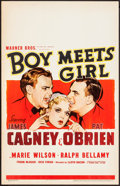 "Movie Posters:Comedy, Boy Meets Girl (Warner Brothers, 1938). Window Card (14"" X 22"").Comedy.. ..."