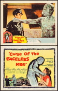 "Movie Posters:Horror, Curse of the Faceless Man (United Artists, 1958). Title Lobby Card& Lobby Card (11"" X 14""). Horror.. ... (Total: 2 Items)"