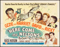 "Movie Posters:Comedy, Here Come the Nelsons (Universal International, 1952). Half Sheet(22"" X 28""). Comedy.. ..."