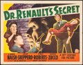 "Movie Posters:Horror, Dr. Renault's Secret (20th Century Fox, 1942). Half Sheet (22"" X28""). Horror.. ..."
