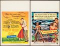 """Movie Posters:Drama, The Glenn Miller Story & Other Lot (Universal International,1954). Window Cards (2) (14"""" X 22""""). Drama.. ... (Total: 2 Items)"""