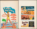 "Movie Posters:Musical, Easy to Love & Other Lot (MGM, 1953). Window Cards (2)(14"" X22""). Musical.. ... (Total: 2 Items)"