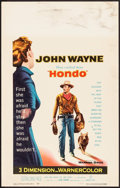 "Movie Posters:Western, Hondo (Warner Brothers, 1953). Window Card (14"" X 22"") 3-D Style.Western.. ..."