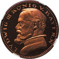 German States:Bavaria, German States: Bavaria. Ludwig III copper Proof 5 Mark 1913 PR65Red NGC,...