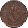 German States:Baden, German States: Baden. Friedrich I Proof Kreuzer 1871 PR66 Red and Brown NGC,...