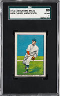 Baseball Cards:Singles (Pre-1930), 1911-14 D304 Brunners Bread Christy Mathewson SGC 80 EX/NM 6. ...