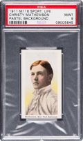 Baseball Cards:Singles (Pre-1930), 1910-11 M116 Sporting Life Christy Mathewson (Pastel Background)PSA Mint 9 - Pop. Three, None Higher. . ...