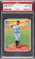 Baseball Cards:Singles (1930-1939), 1933 Goudey Babe Ruth #144 PSA NM-MT 8.. ...