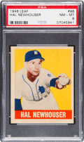 Baseball Cards:Singles (1940-1949), 1948 Leaf Hal Newhouser #98 PSA NM-MT 8 - None Higher. ...