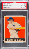 Baseball Cards:Singles (1940-1949), 1948 Leaf George Kell #120 PSA NM-MT 8 - Pop Five, None Higher....