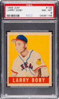 Baseball Cards:Singles (1940-1949), 1948 Leaf Larry Doby #138 PSA NM-MT 8 - None Higher. . ...