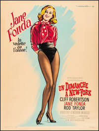 """Sunday in New York (MGM, 1964). French Grande (47"""" X 63"""") Style B. Comedy"""