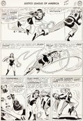 Original Comic Art:Panel Pages, Mike Sekowsky and Bernard Sachs Justice League of America#30 Story Page 9 Original Art (DC, 1964)....