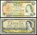 Canadian Currency: , Canada Bank of Canada.. BC-41b $20 1954;. BC-54a $20 1979.. ...(Total: 2 notes)