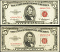 Small Size:Legal Tender Notes, $5 Legal Stars Two Examples.. ... (Total: 2 notes)