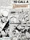 Original Comic Art:Panel Pages, Neal Adams and George Tuska Challengers of the Unknown #74 Story Page 1 Deadman Original Art (DC, 1970)....