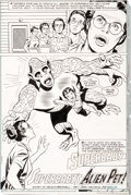 Original Comic Art:Panel Pages, John Calnan and Joe Giella Superman Family #182 PartialStory Original Art Group of 4 (DC, 1977).... (Total: 4 OriginalArt)