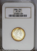 Proof Barber Quarters: , 1896 25C PR63 NGC. An extremely flashy specimen housed in an older NGC holder, which of course leaves the cameo designation...